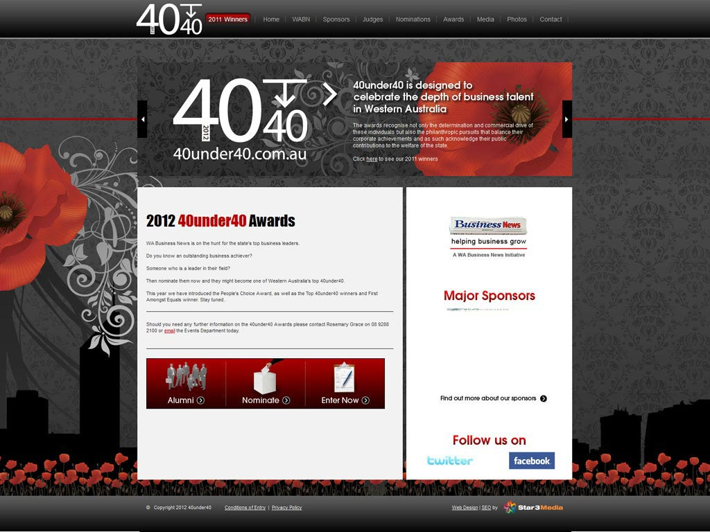 Perth Web Design by Star 3 Media: 40 Under 40