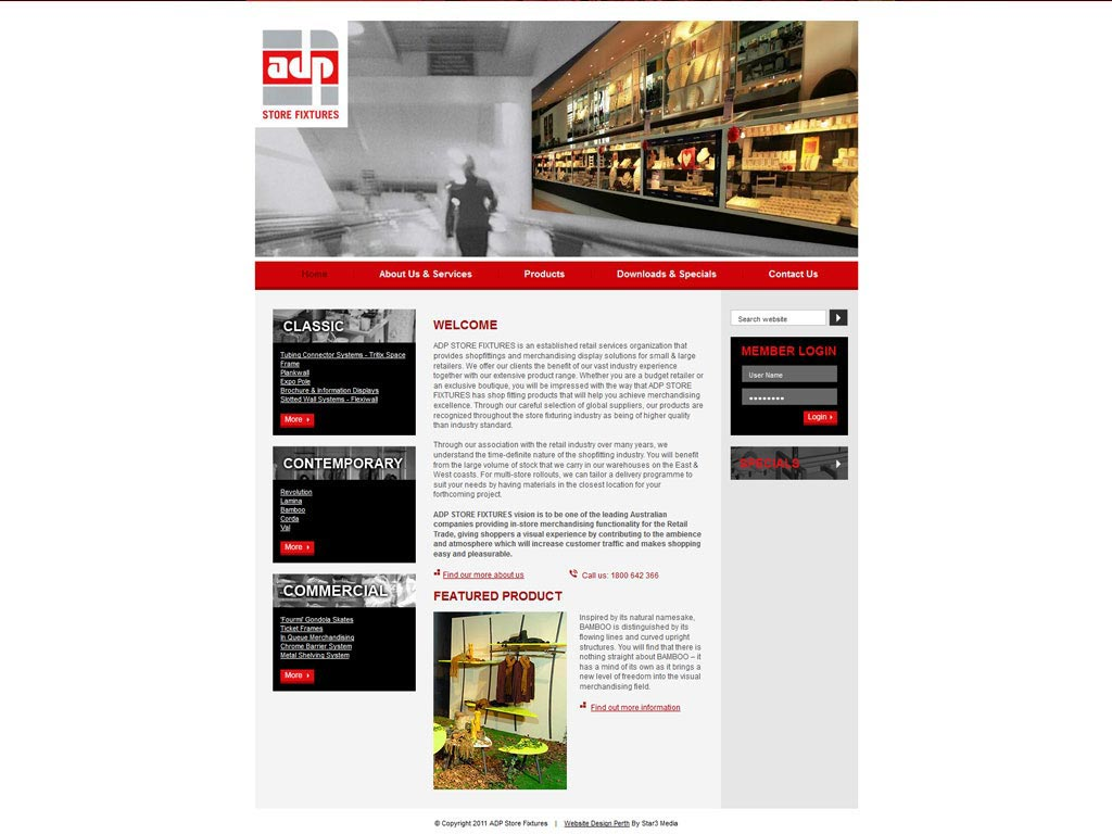 Perth Web Design by Star 3 Media: ADP Store