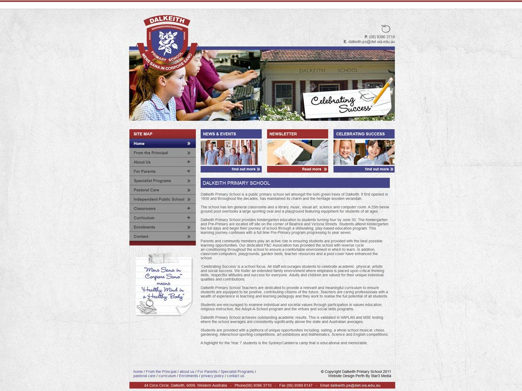 Perth Web Design by Star 3 Media: Dalkeith Primary School