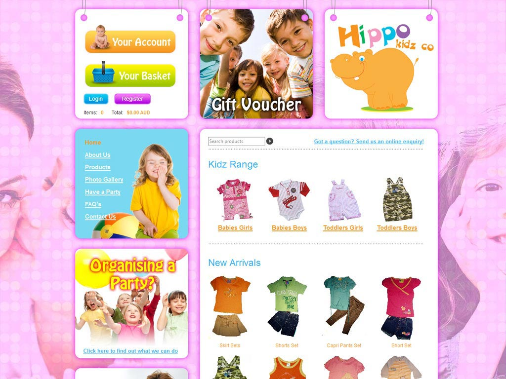Perth Web Design by Star 3 Media: Hippo Kids
