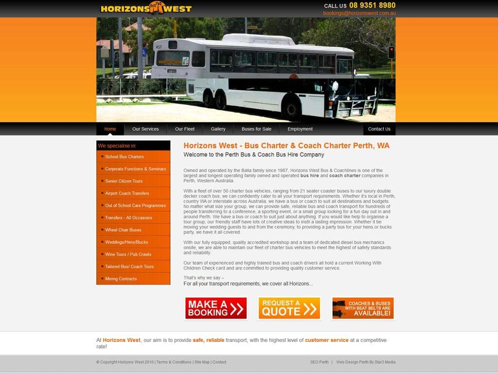 Perth Web Design by Star 3 Media: Horizons West