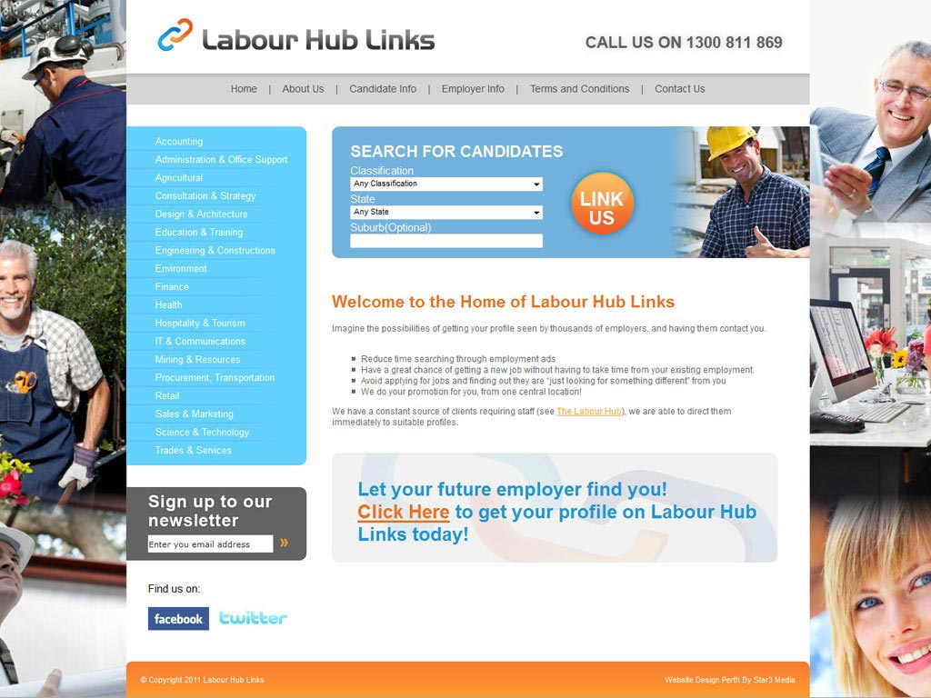Perth Website Design by Star 3 Media: The Labour Hub Links