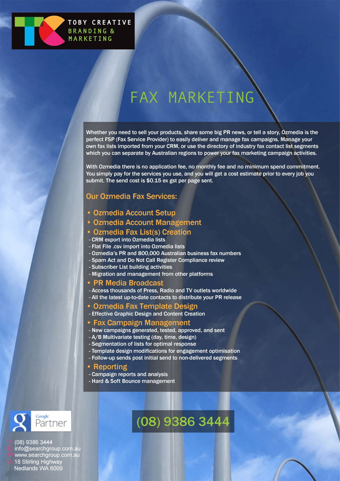 Toby Creative – Perth Fax Marketing OzMedia Fax Marketing Services